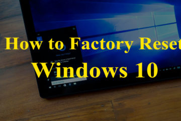 Factory Reset Windows 10