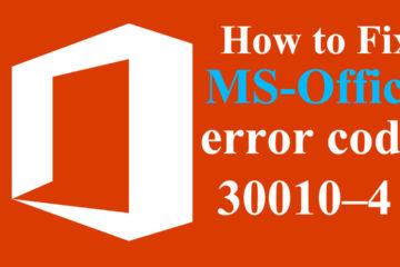 ms-office error 30010–4