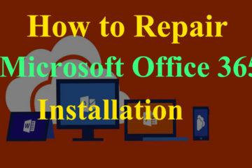 repair Microsoft Office 365