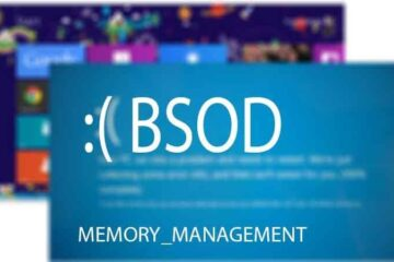 Memory Management BSOD Error