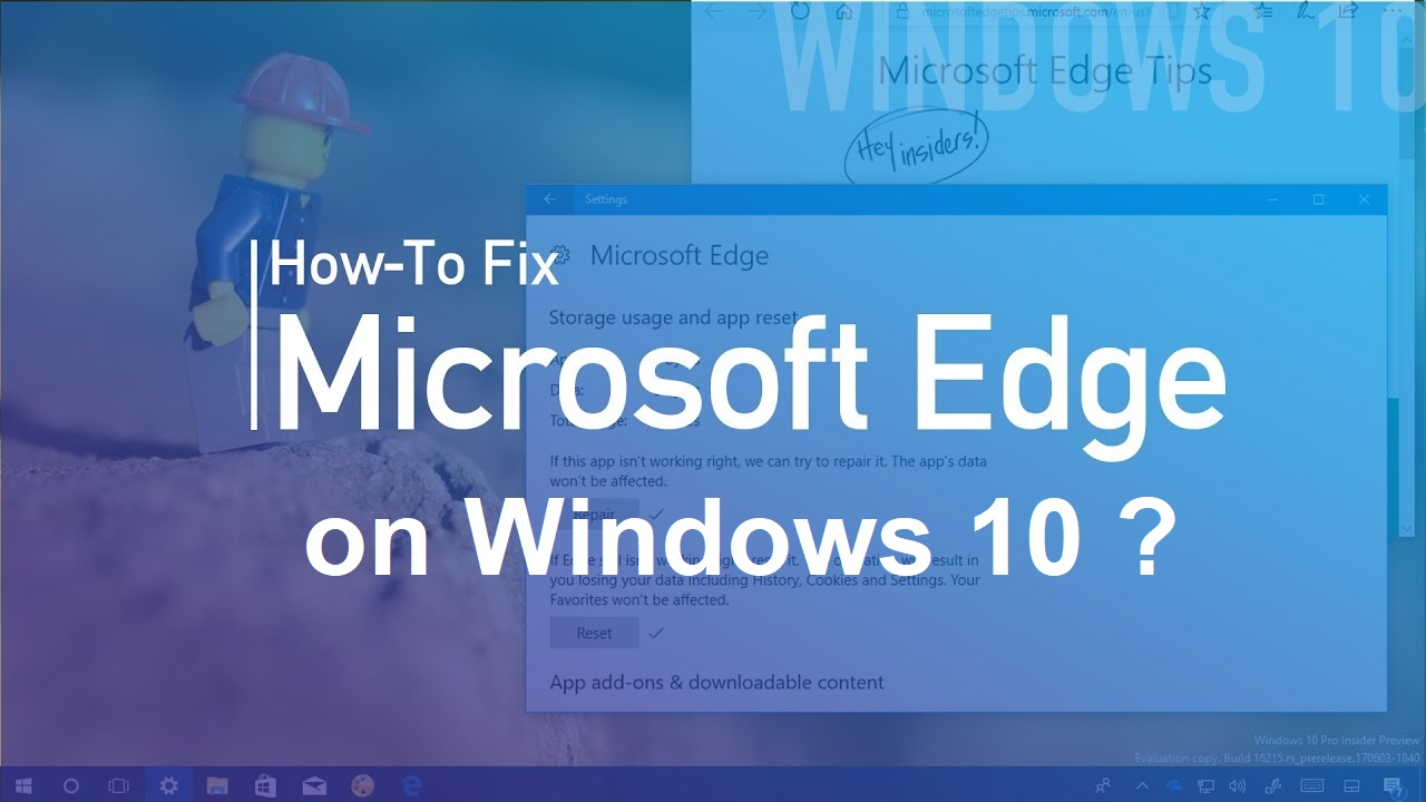 Microsoft Edge not working
