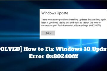 Windows 10 Update Error 0x80240fff