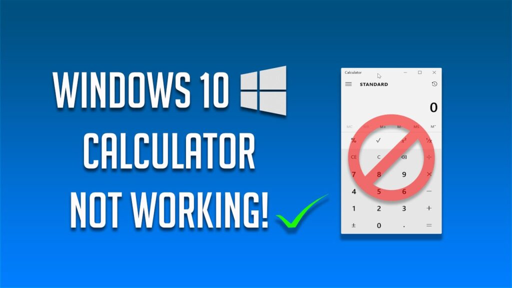 Fix Calculator not Working in Windows 10