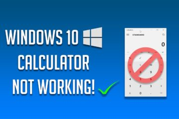 Fix Calculator not Working in Windows 10