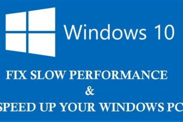 Windows 10 Slow Performance Issue