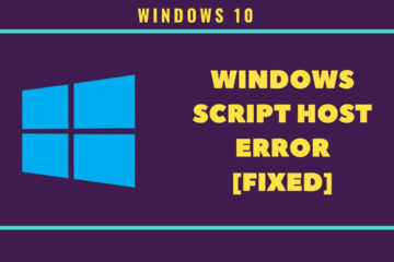 How to Fix Windows Script Host Error