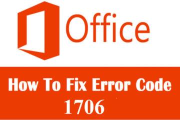 Microsoft Office Error Code 1706