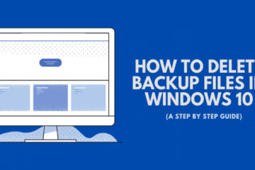 Delete Backup Files in Windows 10