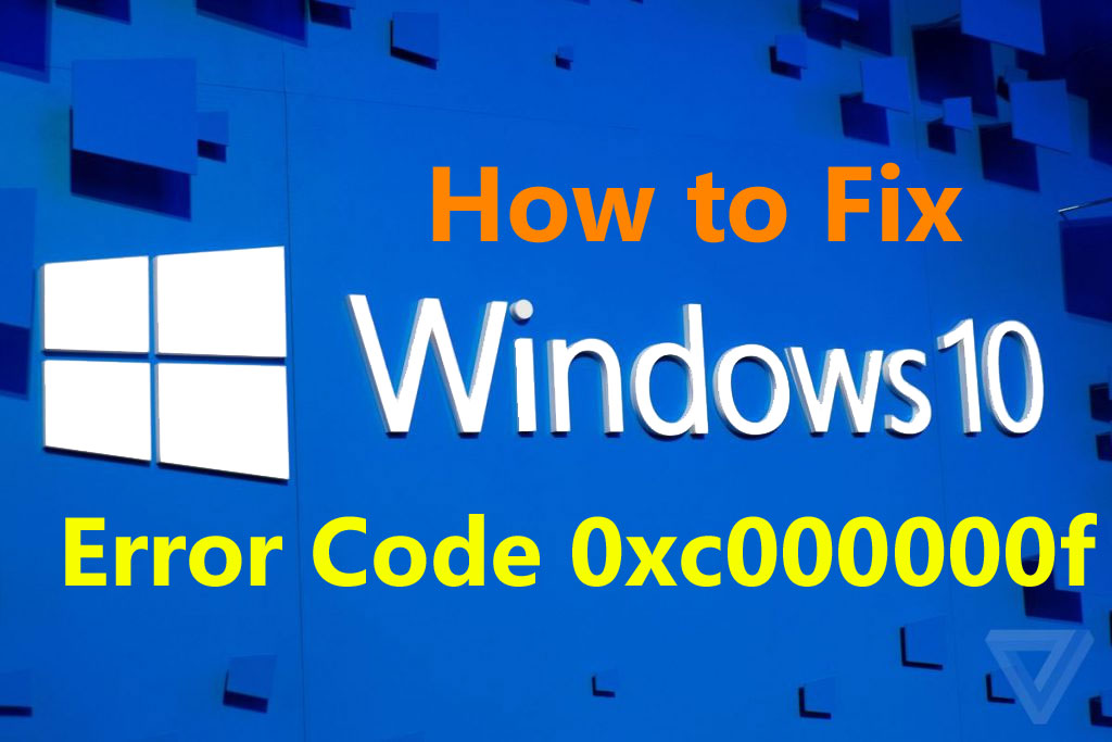 windows 10 Error Code 0xc000000f
