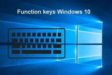 function keys do on Windows 10