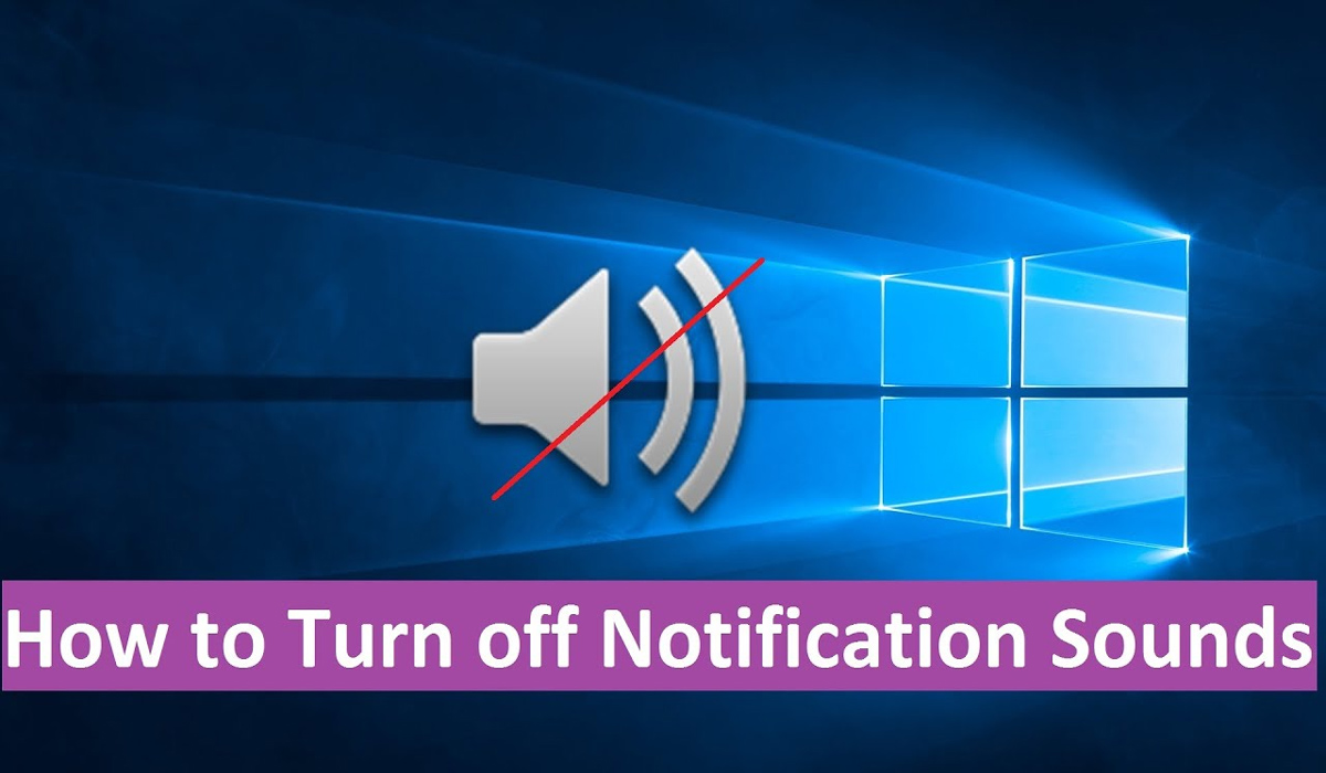 How to turn off notification sound in Windows 10