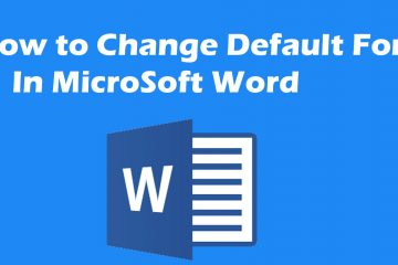 How to Change Default Font In MS Word